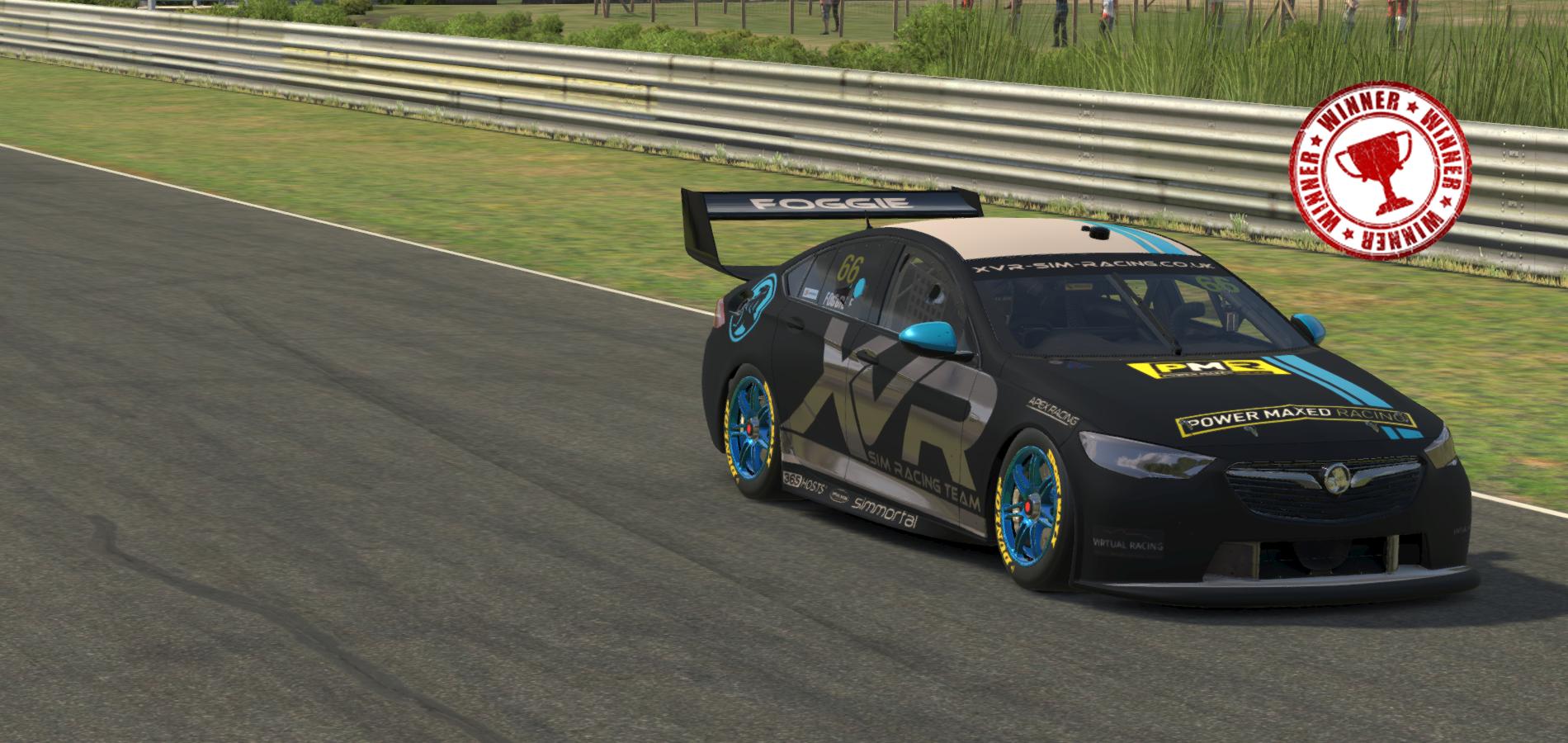 Nicol Foggie wins the V8ESC Season 8 Drivers Championship